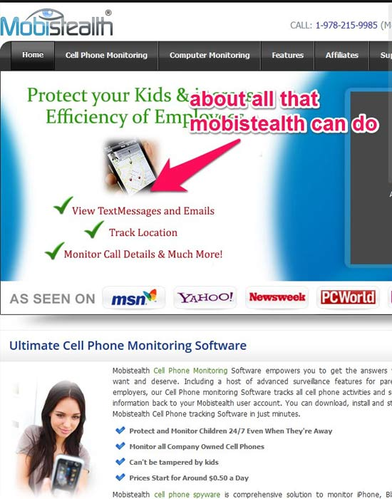 mobistealth-homepage-screenshot
