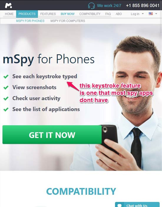 mspy-homepage-screenshot