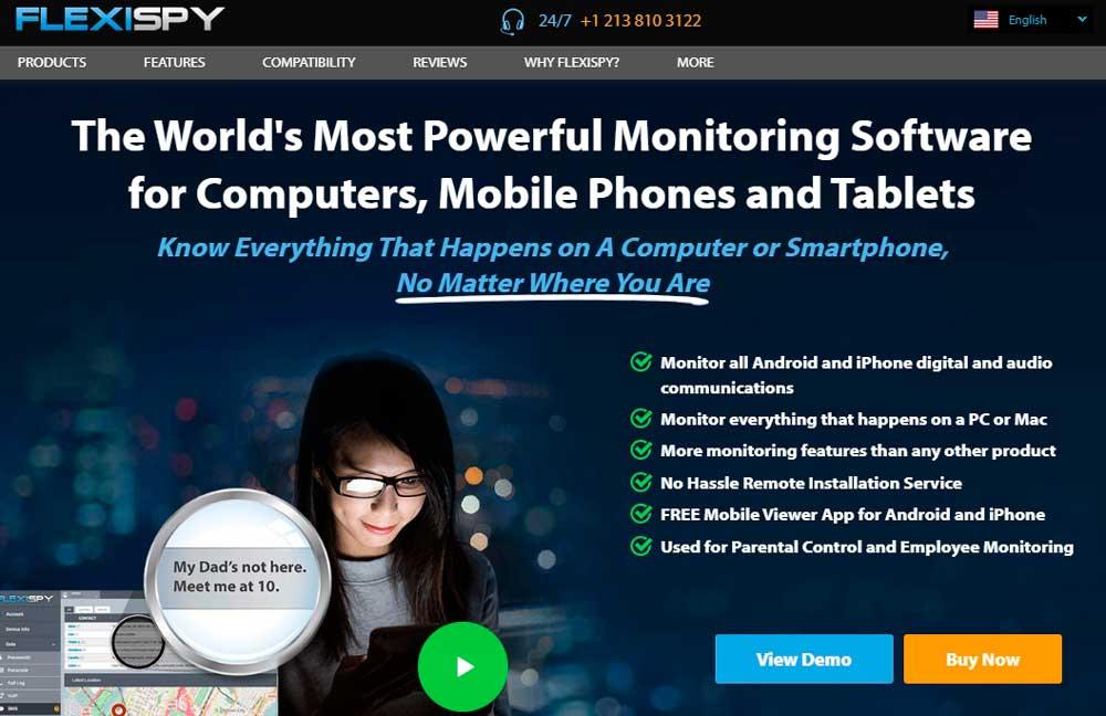 mobile monitoring software FlexiSPY™