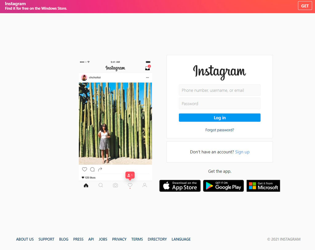phishing page Instagram