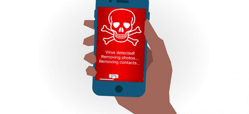 phone is a victim of the virus